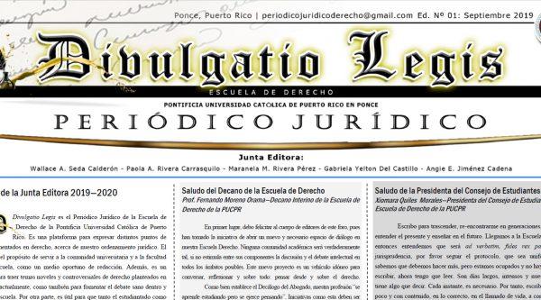 Cabezote de periódico Divulgatio Legis
