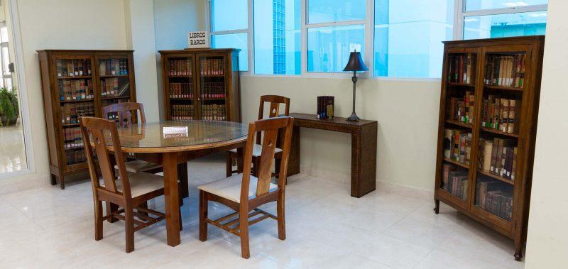Area de la Colección de Libros Raros en la biblioteca de derecho