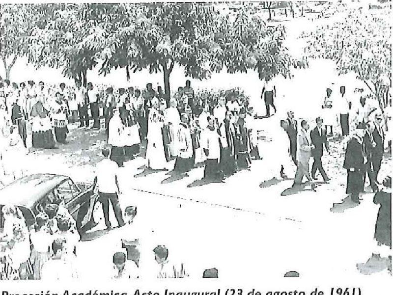 Procesión Académica. Acto Inaugural (23 de agosto de 1961)