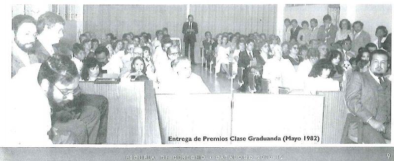 Entrega de Premios Clase Graduanda (Mayo 1982)